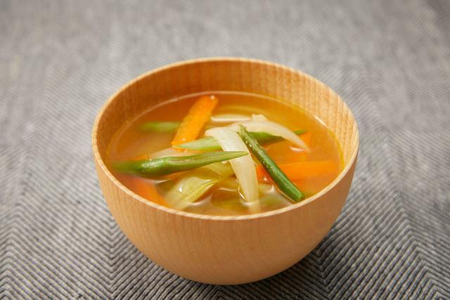 炒め野菜のコクうま味噌汁