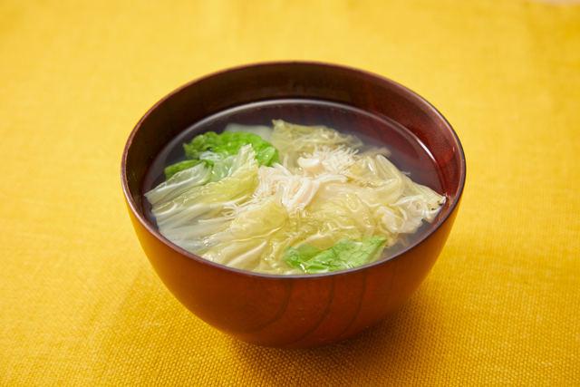 トロトロ白菜とホタテのスープ