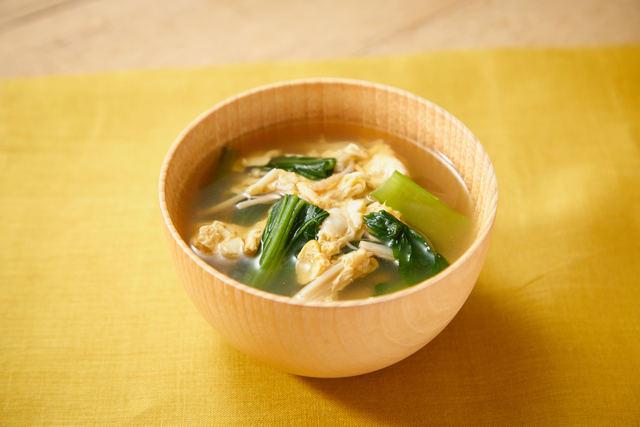 小松菜のふわたまスープ