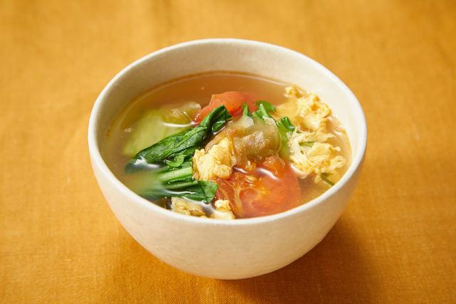 トマたまザーサイスープ