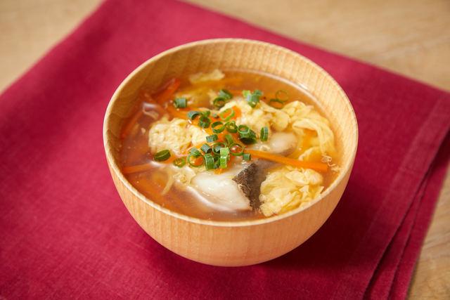 たらとたまごの中華スープ