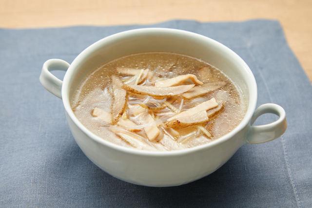 新ごぼうの春雨スープ