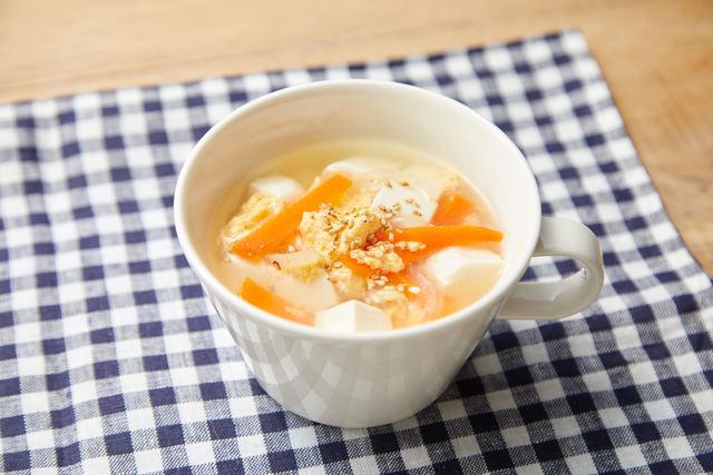 にんじんふわたまスープ