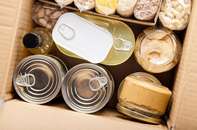 防災食や缶詰