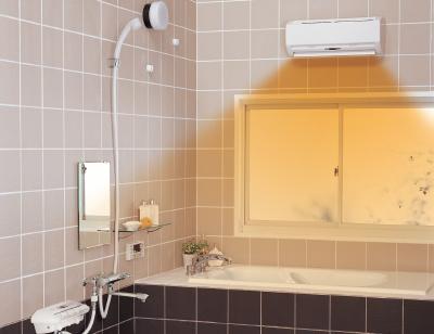 お風呂を浴室暖房換気扇で乾燥させるところ(イメージ)