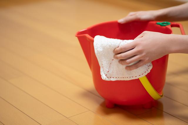 バケツに雑巾