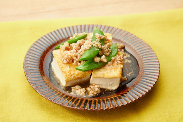 豆腐のステーキそぼろあんかけ