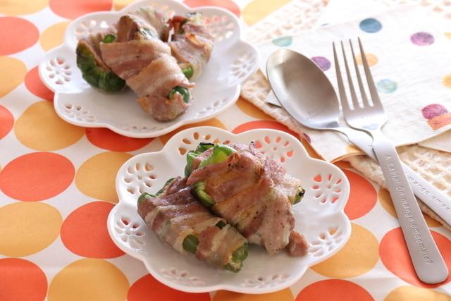 ピーマンとチーズの豚バラ肉巻き