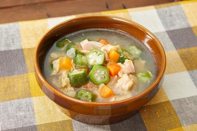 オクラのふわたまスープ