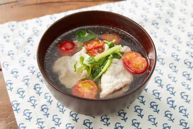 豚しゃぶのスープ