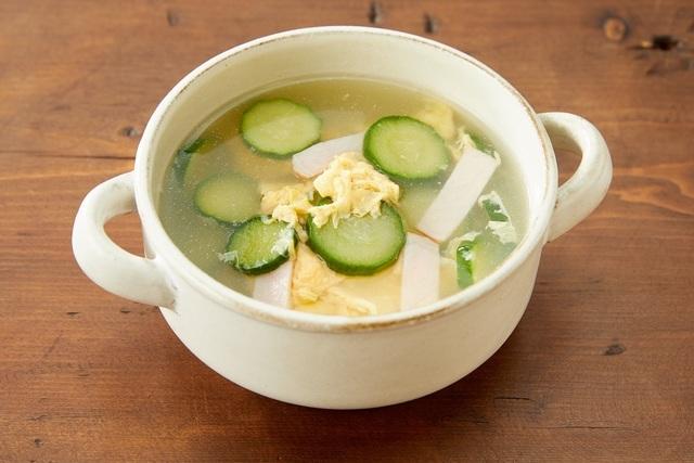 キュウリと卵の中華スープ