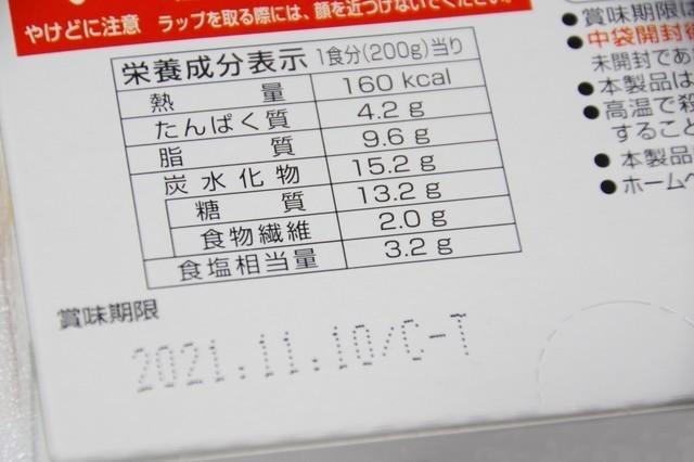 レトルト食品の栄養成分表示と賞味期限