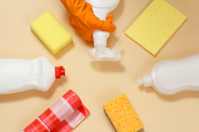 掃除用のスポンジや洗剤