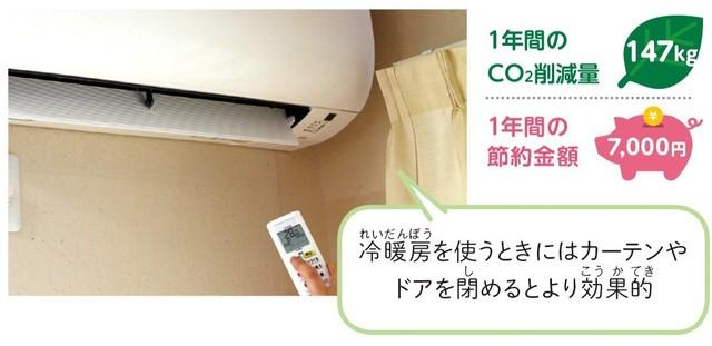 冷暖房の温度を設定している様子