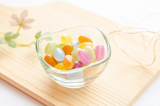 色鮮やかなグミキャンディー