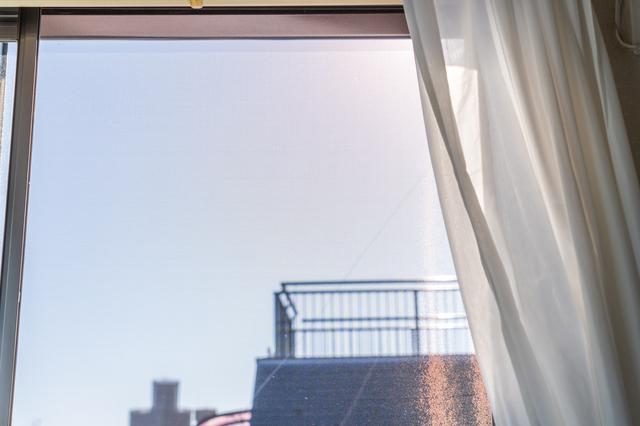 網戸を付けている窓