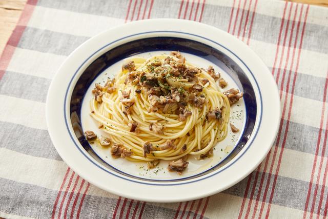 たっぷりきのこのスパゲティ