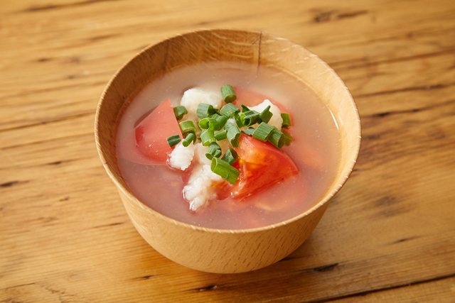 長いもとトマトのスープ