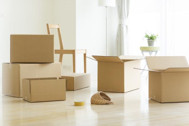 引っ越し準備中のイメージ