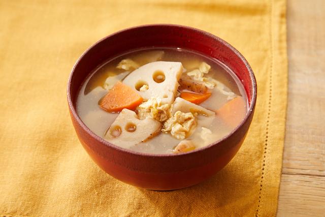 れんこんのかきたま中華スープ