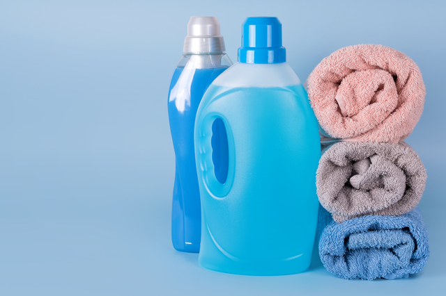 柔軟材と洗剤とタオル