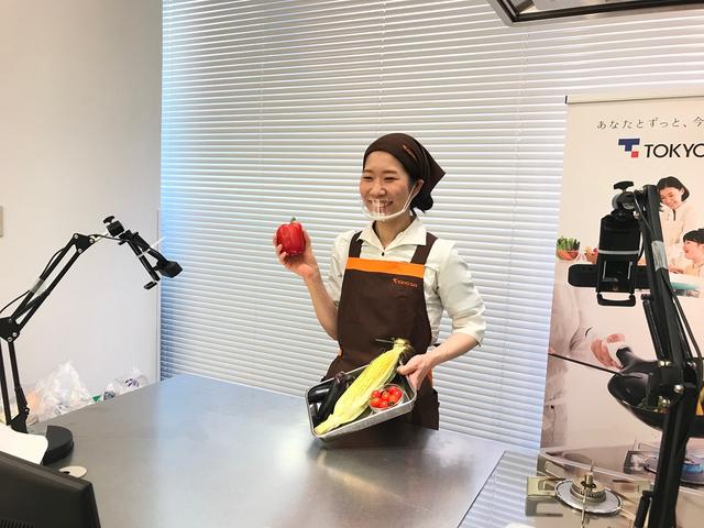 東京ガスオンライン料理教室講師の様子