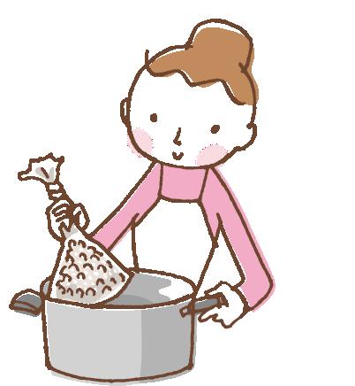 「お湯ポチャレシピ(R)」のイラスト
