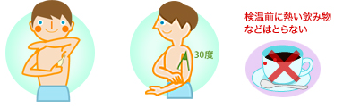 正しい検温方法(ワキ)