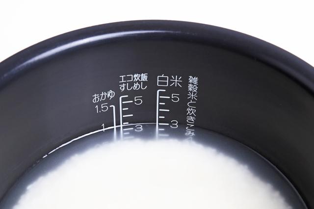 米を浸漬する