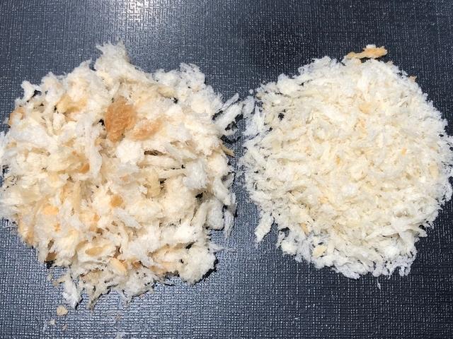 生パン粉とパン粉