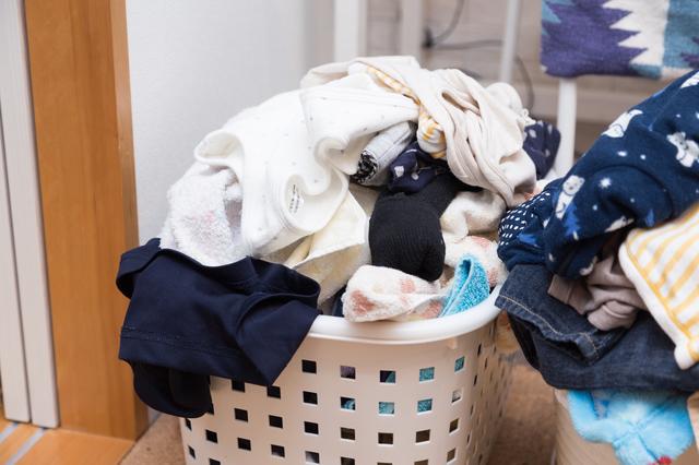 溜まった洗濯物