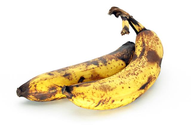 熟れたバナナ