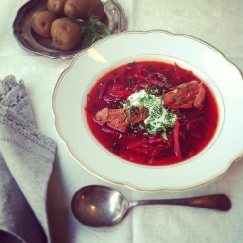 「ビートルートスープ(ボルシチ)」