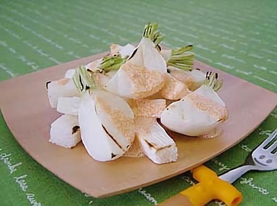 長芋とカブのグリル~明太ソース~