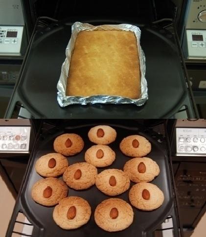 魚焼きグリルを使ったお菓子作りの例