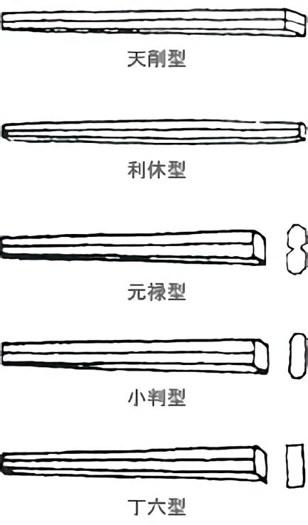 割り箸5種類比較画像