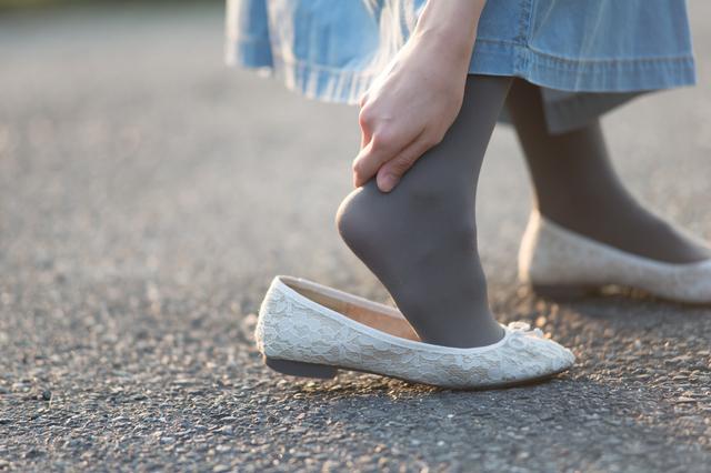 靴擦れした人