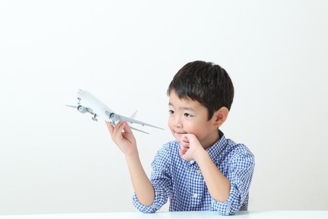 一人で飛行機