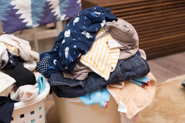 ため込んだ洗濯物