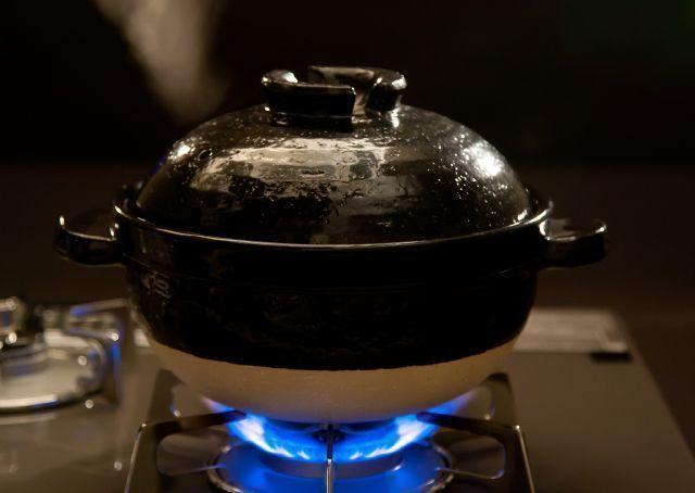 ガスコンロで炊いた土鍋ごはん