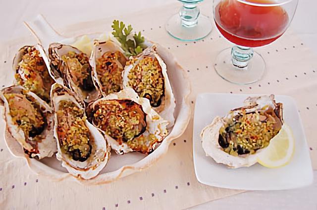 牡蠣のグリルパン粉焼き